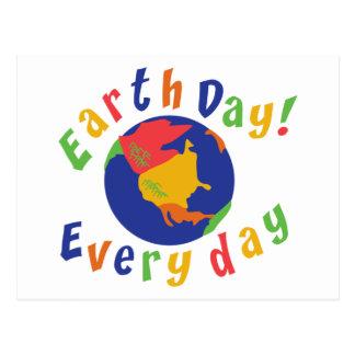 Día de la Tierra diario Tarjeta Postal
