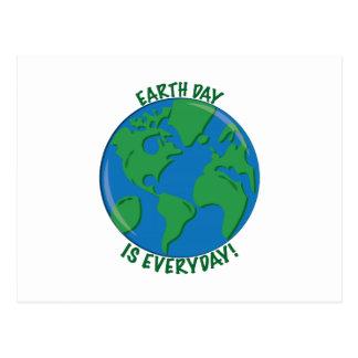 Día de la Tierra diario Tarjetas Postales