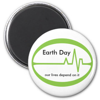Día de la Tierra EKG Imanes Para Frigoríficos