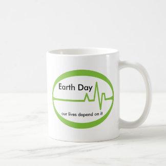Día de la Tierra EKG Taza Clásica