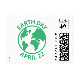 Día de la Tierra, el 22 de abril Estampillas