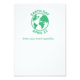 """Día de la Tierra, el 22 de abril Invitación 5"""" X 7"""""""