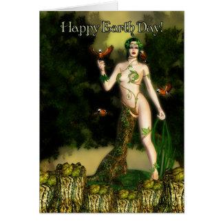 Día de la Tierra - el encargado de Driad del Tarjeta De Felicitación