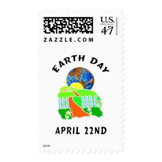 Día de la Tierra en casa Timbres Postales