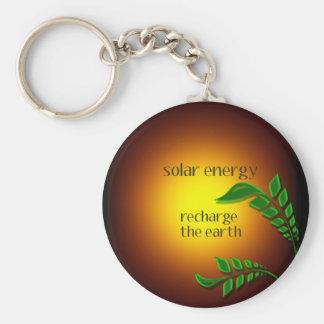 Día de la Tierra/energía solar Llavero Redondo Tipo Pin