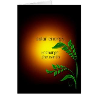 Día de la Tierra/energía solar Tarjeta De Felicitación