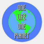 Día de la Tierra Etiquetas Redondas