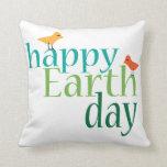Día de la Tierra feliz Almohada