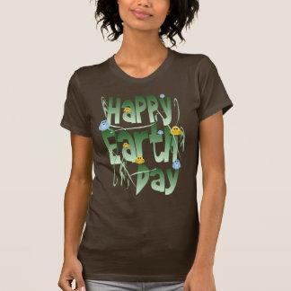 Día de la Tierra feliz con BirdsShirt Polera