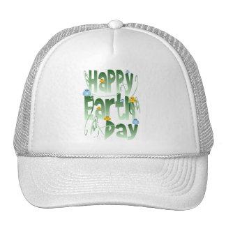 Día de la Tierra feliz con el gorra de los pájaros