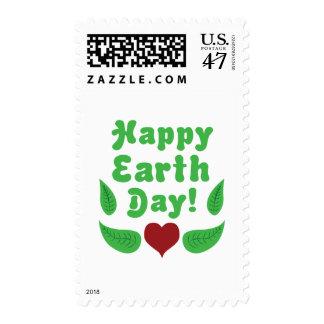 ¡Día de la Tierra feliz! Estampilla