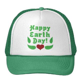 ¡Día de la Tierra feliz Gorros Bordados
