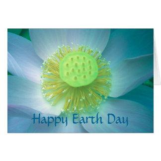 Día de la Tierra feliz Lotus azul Tarjeta De Felicitación