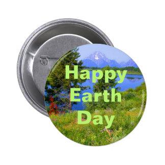 Día de la Tierra feliz Pin Redondo De 2 Pulgadas