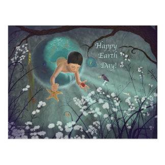 Día de la Tierra feliz - recuerdos del arte del oc Postales