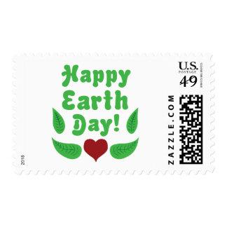 ¡Día de la Tierra feliz! Sellos Postales