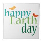Día de la Tierra feliz Teja