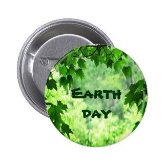 Día de la Tierra frondoso Pin Redondo 5 Cm