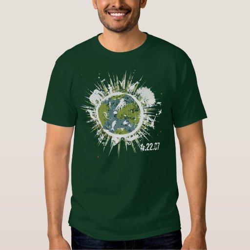 Día de la Tierra III - para el camisetas oscuro Playera