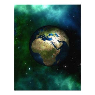 Día de la Tierra Membrete A Diseño