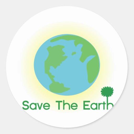 Día de la Tierra Pegatina