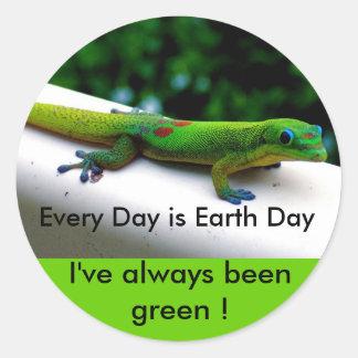 Día de la Tierra Pegatinas Redondas