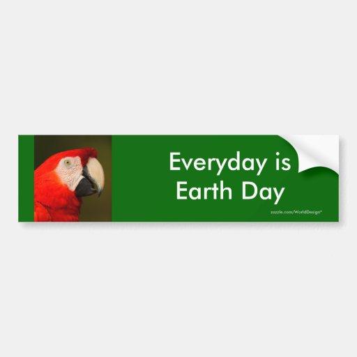 Día de la Tierra Pegatina De Parachoque
