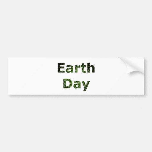 Día de la Tierra Pegatina Para Auto