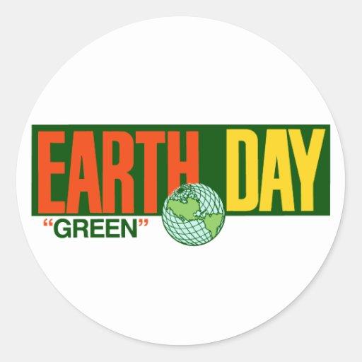 Día de la Tierra Pegatina Redonda