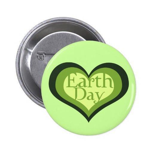 Día de la Tierra Pin Redondo 5 Cm