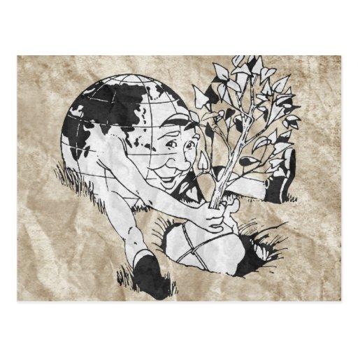 DÍA DE LA TIERRA - plante un árbol Postal