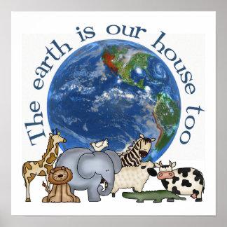 Día de la Tierra poster ambiental