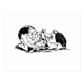 DÍA DE LA TIERRA - proteja la fauna Postal