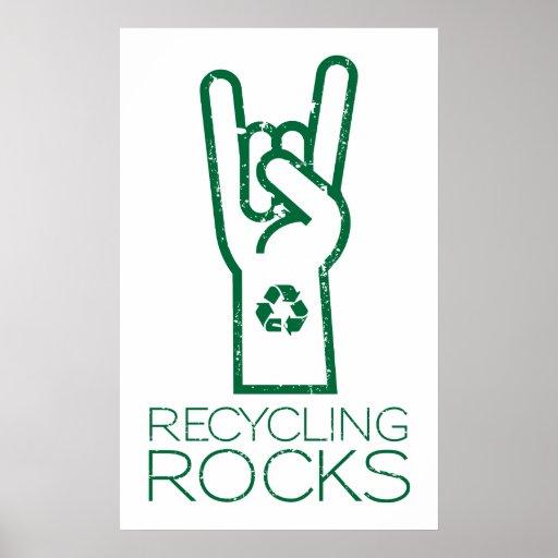 Día de la Tierra: ¡Reciclaje de rocas! Poster