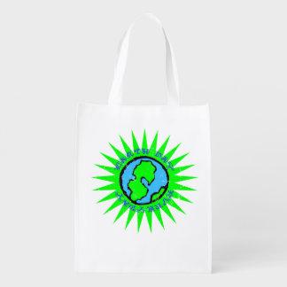 Día de la Tierra retro diario Bolsas Para La Compra