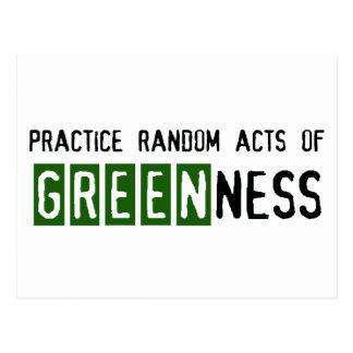 Día de la Tierra - sea verde Postales