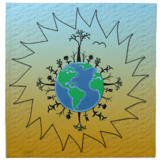 Día de la Tierra Servilleta Imprimida