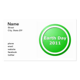 Día de la Tierra Tarjeta De Visita