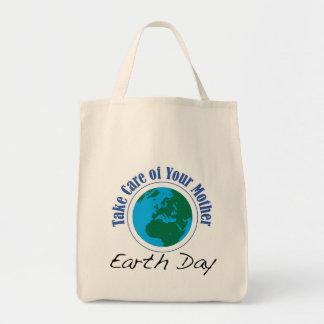 Día de la Tierra - tome el cuidado de su madre Bolsas De Mano