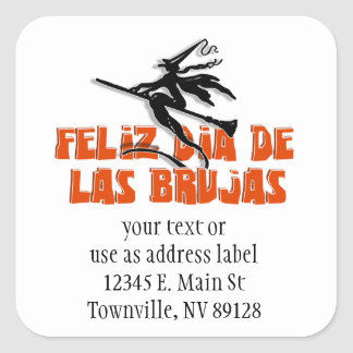 Dia de Las Brujas Square Sticker