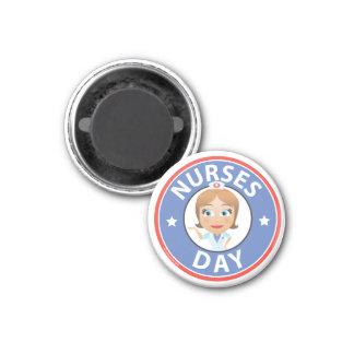 Día de las enfermeras imán de nevera