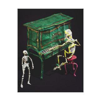 Día de las figuras muertas como músicos impresiones de lienzo