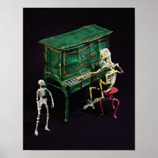 Día de las figuras muertas como músicos póster