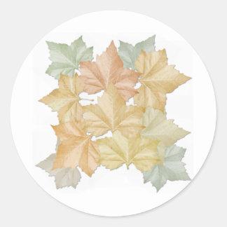 Día de las hojas de otoño primer de pegatina de la