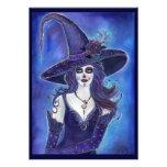 Día de las invitaciones de Halloween de la bruja m Invitacion Personalizada