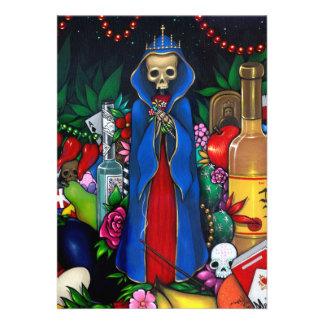 Día de las INVITACIONES de Santa Muerte de los mue