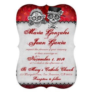 Día de las invitaciones muertas 2 del boda del invitación 12,7 x 17,8 cm