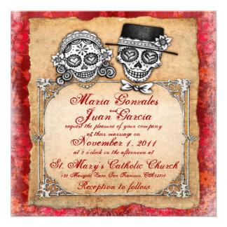 Día de las invitaciones muertas del boda comunicados personales