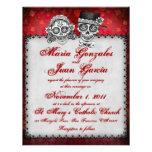 Día de las invitaciones muertas del boda invitacion personalizada