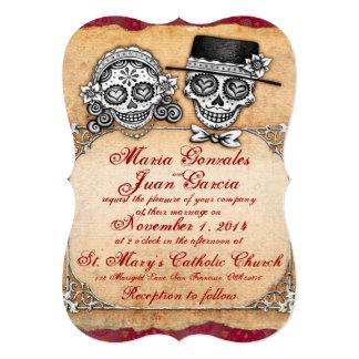 """Día de las invitaciones muertas del boda invitación 5"""" x 7"""""""